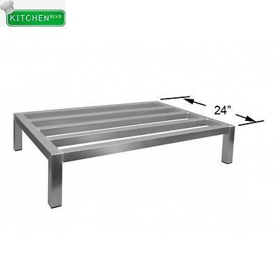 "Heavy Duty All Welded Aluminum Dunnage Rack 24""W x 24""L x 8""H"