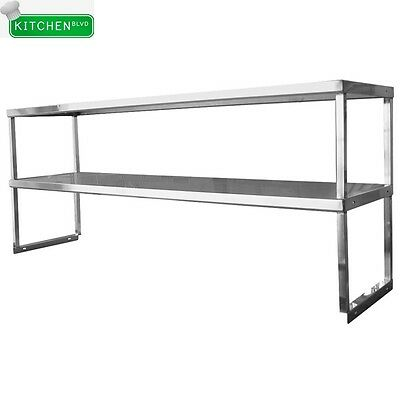 """Double Overshelf For Work & Cold Table 12""""x60"""" NSF"""