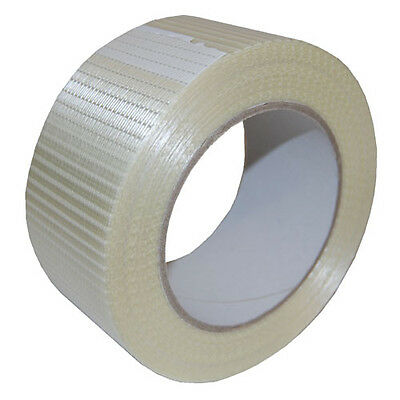 3 Rolls 50mm Wide x 50m Long Very Strong Reinforced Crossweave Adhesive Tape