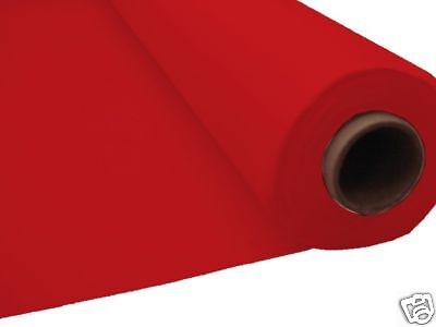 100ft RED Plastic Banquet Roll Table Cover Buffet