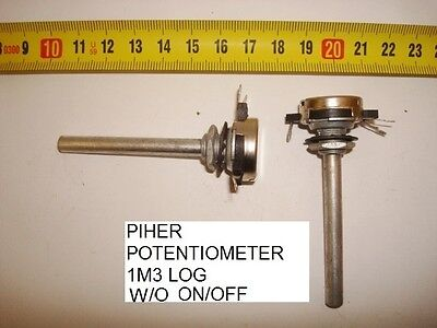 Potenciometro  Carbon Piher Potentiometer 1,3M  1M3 Log S/i W/o On/off. P11