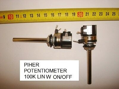 Potenciometro Carbon. Carbon Piher Potentiometer. 100K Lin W On/off. P23