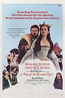 Anne of the Thousand Days 1970 U.S. One Sheet Poster