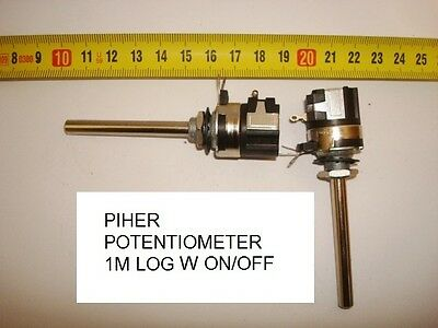Potenciometro Carbon. Carbon Piher Potentiometer. Piher 1M Log C/i W On/off. P4