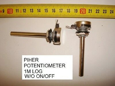 Potenciometro Carbon. Carbon Piher Potentiometer 1M Log S/i W/o On/off. P10