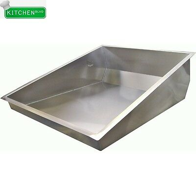 """Stainless Steel Donut Glazing Sugar Pan for Donut Table 24""""Wx30""""L"""