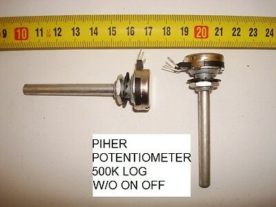 Potenciometro  Carbon Piher Potentiometer. 500K Log W/o On/off. P2
