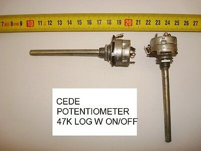 Potenciometro  Carbon Cede Potentiometer. 47K Log C/i W On/off. P15