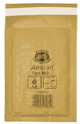 150 Small Gold Jiffy Bubble Lined Bags Envelopes JL000 90mm x 145mm