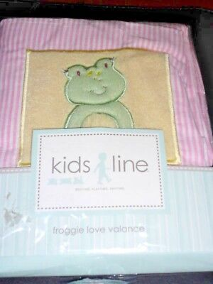 Kidsline Froggie Love VALANCE frog froggy turtle duck pink green yellow NEW
