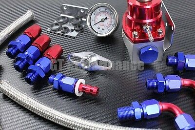 KIT Regulateur Pression d'Essence reglable PRO Durites renforcé Homolo FIA NEUF