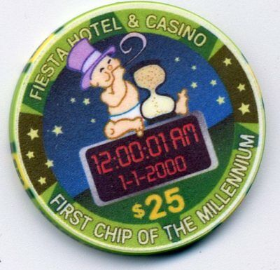 Las Vegas $25 Fiesta First Chip Millennium Casino Chip