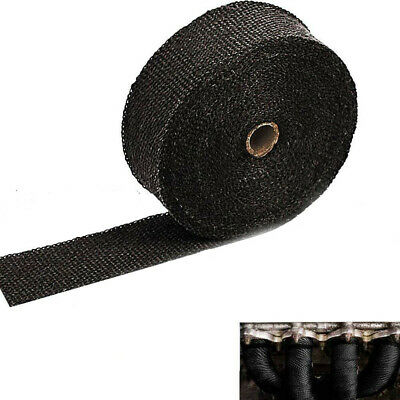 "EXHAUST MANIFOLD DOWNPIPE HEAT WRAP 2"" x 10M WITH TIES 30MM"