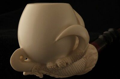 Eagle s Claw  Hand Carved Block Meerschaum Pipe in a fitted CASE 3519 pipa NEW