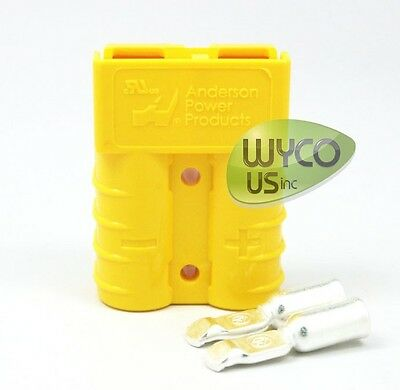 Anderson Power, Connector+Contacts, 8 Gauge (#8Awg), Sb50A-600V, Small Yellow