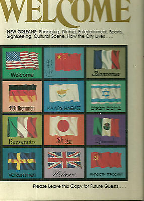 1973-1974 New Orleans Welcome Book Baton Rouge