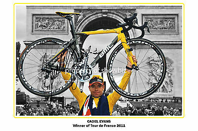 *CADEL EVANS* Large signed poster of Tour de France champion! Excellent gift!