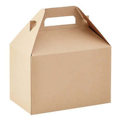 25 Large Kraft Gable Boxes / New / Plain Gable Boxes