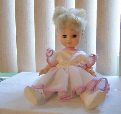 12.5 inches Ballerina Doll, Vinyl, Unmarked, Comes with Stand