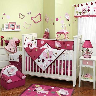 Raspberry Swirl 5 Piece Baby Crib Bedding Set by Lambs & Ivy