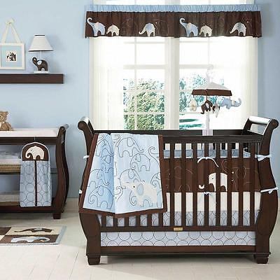 Blue Elephant 4 Piece Baby Crib Bedding Set by Carters