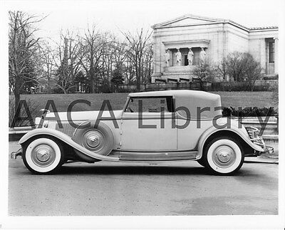 1933 Lincoln KB Brunn Convertible Victoria Factory Photo / Picture (Ref. #53202)