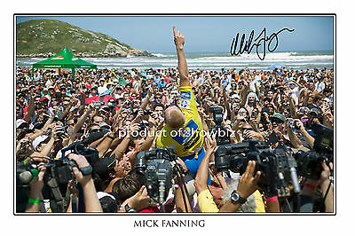 Mick Fanning Autographed Signed  Photo Poster  - Great Surfing Memorabilia