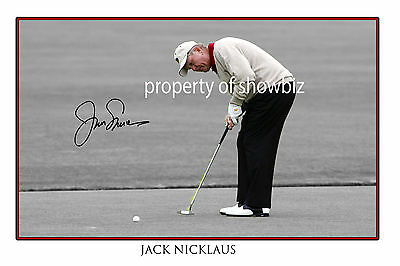 * JACK NICKLAUS * Signed poster of golfing great. Large size!