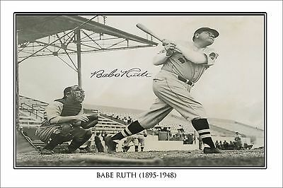 Babe Ruth Autographed Signed Poster Print  - Great Baseball Memorabilia