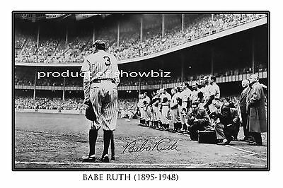 Babe Ruth Large Autographed Signed Poster  - Great Baseball Memorabilia