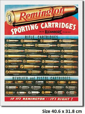 Remington Sporting Cartridge Tin Metal Sign 1001 Postage Disc's 2-13 signs $15