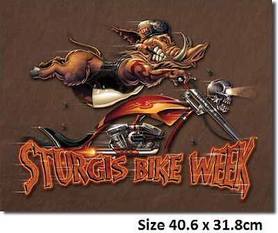 Sturgis Modern Boar Tin  Sign 1399  Postage Discounts 2-13 signs $15 flat rate.