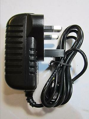 DC IN 9-12V 1.0A Mains AC-DC Adaptor Charger for Peppa Pig Portable DVD Player