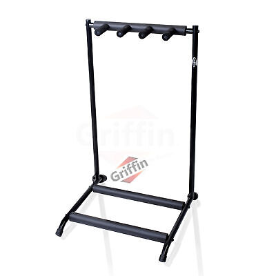 3 Triple Multiple Guitar Bass Stand Holder Stage Folding Multi Rack Griffin