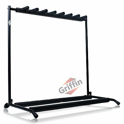 7 Seven Multiple Guitar Bass Stand Holder Stage Folding Multi Rack Griffin