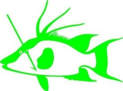 Hogfish Spearfishing Decal 5 Inches Green