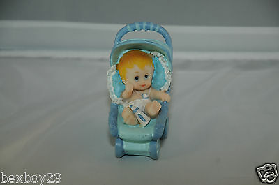 A Cute Baby Boy In A Pram With Bottle - Blue Colour - Brand New