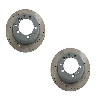 2-Pieces Sebro Made in Germany Front Disc Brake Rotors For Porsche 911993 NEW