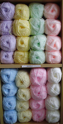 James C Brett Shimmer Baby DK Wool / Yarn 100grams - 8 Colours