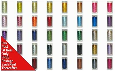 Marathon Rayon Embroidery Machine Thread 1000m Spool Choice of Over 400 Colours