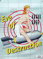 Bomber Nose Art Pinup- Eve Of Destruction Tin Sign Rat Rod Hot Rod