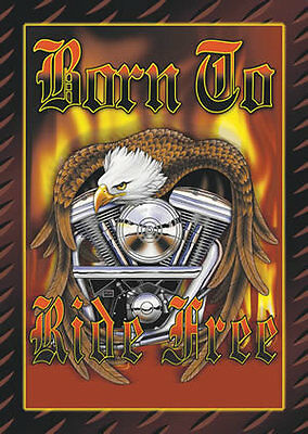 Harley - Born to ride free - Air Waves  Tin Metal Sign 1 of 500+ Signs