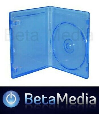 100 Blu Ray Single 14mm Quality Cases with logo  Australian Standard Bluray Case