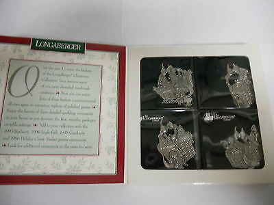 Longaberger Commemorative Christmas Pewter Ornament Set 1997