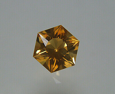 Citrine. Madeira Color. 8.5mm. 2.5 cts.  Six Ray Star. Flawless.