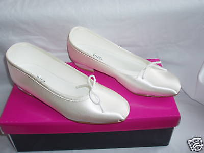 Ivory Or White Satin Bridesmaid Flower Girls Shoes All Sizes Style JEMMA