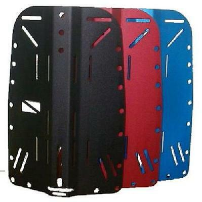Red Hat Diving aluminium backplate. Choice of colours. Universal design.