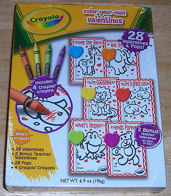 Crayola Color-Your-Own Valentines; 2009 (New In Box)