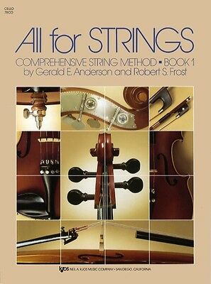 ALL FOR STRINGS Cello Book 1 *NEW* Comprehensive String Method Anderson & Frost