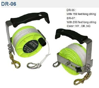 Red Hat Diving Line reel 150 ft of line, aluminium handle.black or yellow DR-06